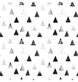 Textured black triangles Seamless pattern vector image