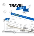 Tickets and travel badge vector image vector image