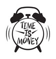 time is money time management vector image