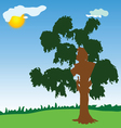 tree with green leave vector image vector image