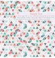 triangle background card template with place for vector image