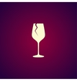 Wine glass icon Flat design style vector image vector image