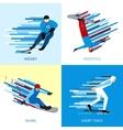 Winter Sportsman Design Concept vector image vector image