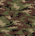 Woodland army camouflage seamless pattern vector image
