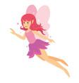 young beautiful angelic pink fairy girl vector image vector image