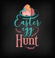 easter egg hunt greeting card design vector image