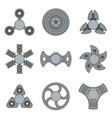 hand fidget spinner extra grey icon set vector image