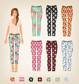 dress up paper doll with an assortment of vector image