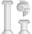 Classical Greek or Roman Ionic column vector image