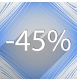 45 percent discount icon symbol Flat modern web vector image vector image