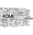 ancient rome military text word cloud concept vector image vector image