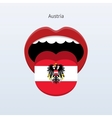 Austria language Abstract human tongue vector image vector image