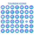 big tourism icon set trendy icons collection vector image