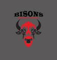 bisons vector image vector image