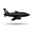 black pirate plane isolated object vector image vector image