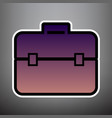 briefcase sign violet vector image vector image