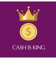 cash is king money everything vector image