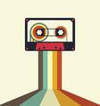 Cassette retro vintage style vector image vector image