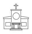 christian church building vector image vector image