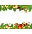 christmas fir frame vector image vector image