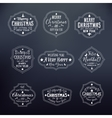 Christmas Vintage Typography Badges Set on Noble vector image