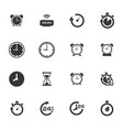 clocks icons set vector image