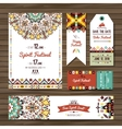 collection banners flyers or invitations