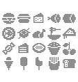 collection dotted icons food vector image vector image