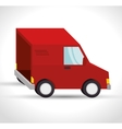 delivery truck transporting design isolated vector image