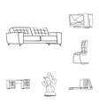 design of furniture and work sign set of vector image