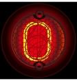 Digit 0 zero Nixie tube indicator vector image vector image