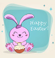 easter bunny for holiday vector image
