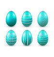 easter eggs turquoise set spring holidays in vector image vector image