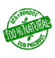 eco product natural rubber stamp vector image vector image