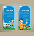 education teacher children banner background vector image vector image
