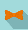fashion bow tie icon flat style vector image vector image