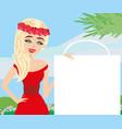 fashion girl shopping - shopping sale frame vector image vector image