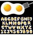fried eggs alphabet vector image