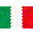 geometric background in Italy flag Triangle vector image vector image