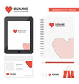 heart business logo tab app diary pvc employee vector image vector image