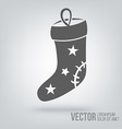 Icon Christmas decoration isolated black on white vector image vector image