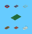 isometric competition set of tennis volleyball vector image vector image