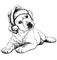 Labrador Retriever puppy 01 1 vector image vector image