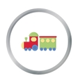 Locomotive cartoon icon for web and vector image