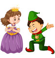 male and female in fantasy costume character vector image