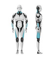 male robot composition vector image vector image