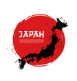 map japan and japanese flag vector image vector image