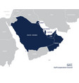 map of the gulf cooperation council gccs vector image vector image