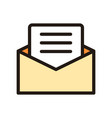 newsletter icon isolated on white background from vector image