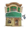 Old two-story pharmacy building vector image vector image